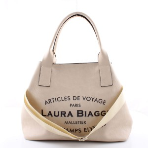 LAURA BIAGGI MUST HAVE BEŻOWY BIG SHOPPER BAG