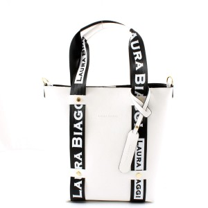 MUST HAVE WHITE SHOPPER SPORTOWE SMYCZE LAURA BIAGGI