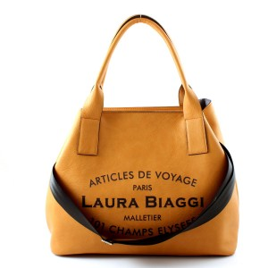 LAURA BIAGGI MUST HAVE CAMEL BIG SHOPPER BAG