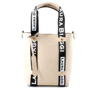 MUST HAVE BEIGE SHOPPER SPORTOWE SMYCZE LAURA BIAGGI