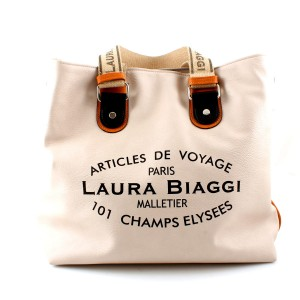 NOWOŚĆ INSPIROWANA LOUIS VUITTON MUST HAVE LAURA BIAGGI BEIGE SHOPPER BAG