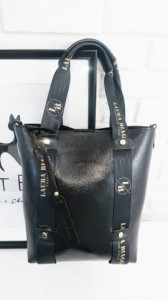 MUST HAVE NEW SHOPPER BLACK LOGOWANE SMYCZE LAURA BIAGGI