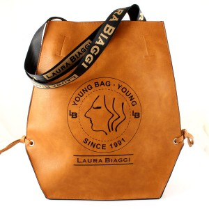 LAURA BIAGGI BIG SHOPPER XL YOUNG BAG CAMEL TOREBKA