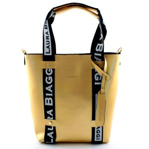 MUST HAVE GOLD HOLOGRAM SHOPPER SPORTOWE SMYCZE LAURA BIAGGI